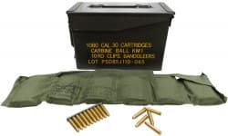 Korean Manufacture Surplus .30 M1 Carbine 110 GR FMJ Ball Ammunition - 1080 Round Can
