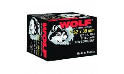 Wolf Performance 7.62x39 122 GR Ammo, FMJ Non-Corrosive - 1000 Round Case