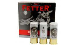 "Fetter Shotgun Shells, Case - 12 Gauge, 2.75"", 1 Oz, # 5 Shot, High Velocity, Non-Corrosive, Reloadable Plastic Casings, 12mm High Brass - 250 Rounds"