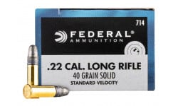 Federal Champion Target 714 Case, .22 L.R., 40 Grain, Standard Velocity, LRN, Brass Cased,New Production - 5000 Round Case