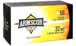 Armscor FAC32 ACP1N 32 ACP 71 GR Full Metal Jacket - 50rd Box