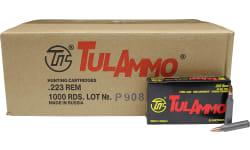 Tulammo -  .223 Remington Case - 55 GR Full Metal Jacket Centerfire Rifle Ammunition, Non-Corrosive - 1000 Rounds - Tula Ammunition - #TA223550