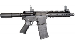 "Bear Creek Arsenal AR-15 Pistol, 5.56 NATO, 7.5"" BBL, 7"" Keymod Rail, w/ Flip up Sights and 30 Rd Mag"