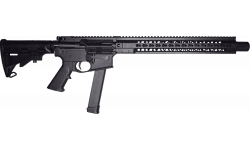 "Brigade MFG BM-9 Forged 9mm AR Rifle 16"" Barrel 15"" U-Rail, Graphite Black Cerakote Finish, Adjustable 6 Position Stock - W / 1-33 Rd O.E.M . Glock Magazine"