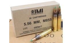 IMI 5.56x45 62 GR M855 FMJ Boat Tail Ammo IMIM855C - 30rd Box