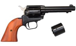 """Heritage Rough Rider Revolver - .22 LR / .22 Mag Combo, 4.75"""" Blued with Wood Grips"""