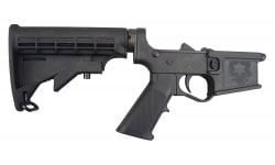 E3 Arms Omega-15 AR15 Black Polymer Complete Lower Receiver