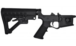 E3 Arms AR-15 Improved Gen II Complete Polymer Lower Receiver - Aluminum Tube - SOPMOD Stock