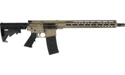 "Andro Corp Industries ACI-15 Semi-Automatic Ar-15 Bravo Base Rifle 16"" Barrel 5.56x45 NATO (1) 30 Round Magazine - Cerakote FDE - 55616BBFDE"
