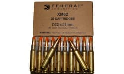 Federal XM62 7.62x51mm 148 GR Tracer Ammo - 20rd Box