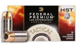 Federal P40HST1 Premium Personal Defense .40 S&W, 180 GR HST Jacket Hollow Point - 50 Round Box