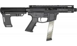 """Foxtrot Mike FM-9 Semi-Automatic AR-15 Pistol 9mm 3"""" Barrel With Faux Suppressor,  5"""" M-Lok Rail, Glock Mag Compatible - W / MFT Pistol Brace."""