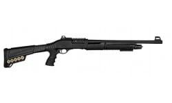 """SDS Imports P3 Pump-Action Tactical Shotgun 18.5"""" Barrel 12GA 5rd - W/ Pistol Grip Stock & Combat Sights - SDS-P3"""