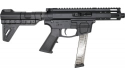 "Foxtrot Mike FM-9 Semi-Automatic AR-15 Pistol 9mm 5"" Threaded Barrel, Glock Mag Compatible -  W / Free Breach Pistol Brace."