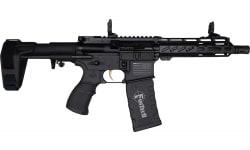 "Fostech Bradley Fighting .223/5.56 AR-15 Pistol 7.5"" Barrel - Echo AR-II Trigger Installed - PDW Brace - 7"" Mach II Rails - Graphite Black Finish"