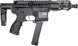 "Fostech Bulldog Tech-15 Semi-Automatic AR-15 Pistol 4.5"" Barrel 9mm 33rd - Echo AR-II Trigger, Deadfoot Arms SCW, Tailhook Brace - 8153-BLK-9MM-6230-4150"