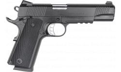 """Zigana Semi-Automatic 1911 B45R Duty Pistol 5"""" Barrel .45ACP 8rd - Black Cerakote W/ Accessory Rail - 1911DB45R"""