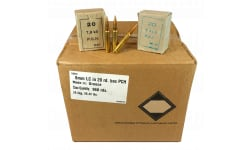 Greek Military Surplus - 8mm Mauser - 198 GR FMJ Ammunition - Boat Tail - Brass Cased - Berdan Primed - Corrosive - 960 Round Case - AM8001