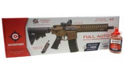 Crosman CFAR1X SBR CO2 Powered .177 Caliber Full Auto AR-15 Platform BB Gun, 430 FPS, Coyote FDE, W /  Red Dot Optic and Free 600 Round Count BB's.