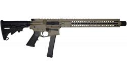 "Brigade MFG BM-9 Forged 9mm AR Rifle 16"" Barrel 15"" U-Rail, FDE Cerakote Finish, Adjustable Stock, 33rd OEM Glock Mag"