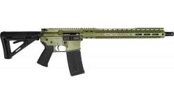 """Black Rain Ordnance Spec-15 Semi-Automatic AR-15 Rifle 16"""" Barrel .232/5.56 30rd - Cerakote Green Finish - SPEC15-BZG"""