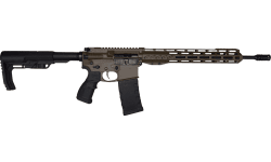 "Fostech Phantom Premium Light Weight 5.56 AR15 Rifle with AR II Echo Trigger Installed - 13"" Mach II Rails - Patriot Brown Finish"
