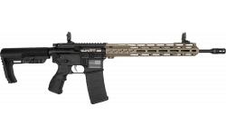 "Fostech Stryker Tech-15 Semi-Automatic AR-15 Rifle 16"" Barrel .223/5.56 30rd - Echo AR-II Trigger Installed - Black W/ FDE Rail - 8151BLK/FDE"