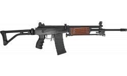 "JRA Gallant Rifle, 5.56 NATO, Semi-Auto, 18"" Barrel W/ Compensator and Bipod, Battle Worn Model, Original Wood Handguards, 30 Rd Mag - No Bayonet Lug"