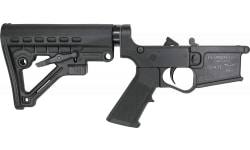 Plum Crazy AR-15 Improved Gen II Complete Lower Receiver with Waffle Stock and Aluminum Buffer Tube- Black