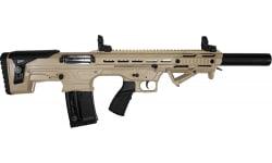 "Panzer Arms BP-12 Gen-2 Semi-Automatic Bullpup Shotgun, 20"" Barrel 3"", 2-5 Round Magazines, Flip Up Sights, Chokes  -  Desert Tan Tactical BP12BSDT"