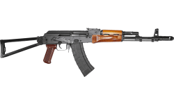 "Riley Defense AK-74 Semi-Automatic Rifle 16"" Barrel 5.45x39 30rd - Side Folding Stock W/ Teak Wood Furniture - RAK74-C-SF"
