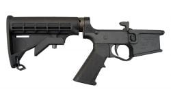 Plum Crazy AR-15 Improved Gen II Complete Polymer Lower Receiver - Black