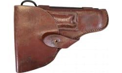 Original Pistol Holster for the Romanian TTC Tokarev Pistol - Dark Reddish Brown Color. .Very Good Surplus Condition