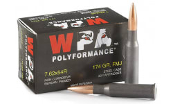 Wolf Polyformance 7.62X54R, 174 GR. FMJ Ammo - 500rd Case -Non Corrosive