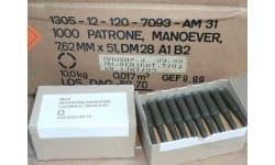 DAG Mfg 7.62X51 Blank Cartridges - Plastic-Cased, Berdan Primed, Non-Corrosive - 1000 Round Case
