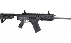 "Fostech FT-12 Origin 12 Nickel Internals 12G 18"" 5rd Semi-Auto Shotgun - Black - Blem"