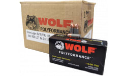 Wolf Performance Ammunition 9mm, Case, 115 GR FMJ , Non-Corrosive - 500 Rounds