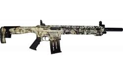 "AR-12 Semi Auto, AR-15 Style 12GA Shotgun by Panzer Arms of Turkey, 3"" Chambers - Special Forest Green Camo Cerakote Finish"