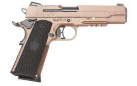 Sig Sauer 1911rd 45 ACP Pistol, Emperor Scorpion FDE G10 NS 8rd - 1911R45ESCPN