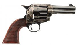 "Taylors and Company 556217DE Short Stroke Runnin Iron Taylor Tuned Single 3.5"" 6 rd Walnut Grip CCH Frame Blued Revolver"