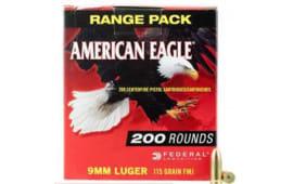 Federal AE9DP200 American Eagle 9mm Luger 115 GR Full Metal Jacket - 200rd Box