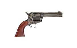 "Taylors and Company 555148DE 1873 Cattleman Gunfighter Taylor Tuned Single 4.75"" 6 rd Walnut Army Sized Grip CCH Frame Blued Revolver"
