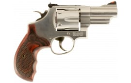 "Smith & Wesson 150715 629 Deluxe DA/SA .44 3"" 6 Wood Stainless Revolver"