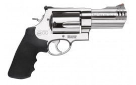 """Smith & Wesson 163504 500 Standard Stainless DA/SA 500 Smith & Wesson 4"""" 5 Black Synthetic Stainless Revolver"""