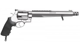 "Smith & Wesson 170262 460 Performance Center XVR with Rail DA/SA .460 S&W Mag 10.5"" 5 Black Synthetic Stainless Revolver"