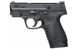 "Smith & Wesson 10086 M&P Shield Night Sight  9mm Double 3.1""  BBl, 3 Mags, Black Polymer Grip"