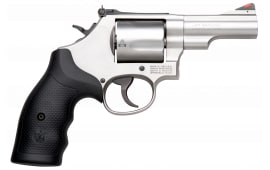 "Smith & Wesson 10064 69 L-Frame DA/SA .44 2.75"" 5 Black Synthetic Stainless Steel Revolver"