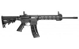 "Smith & Wesson 10208 M&P15-22 Sport Semi-Auto 22 Long Rifle 16.5"" 25+1 6-Position Black"