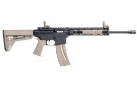 "Smith & Wesson 10210 M&P15-22 Sport Semi-Auto 22 Long Rifle 16.5"" 25+1 Mbus Magpul MOE SL Flat Dark Earth Stock Black"