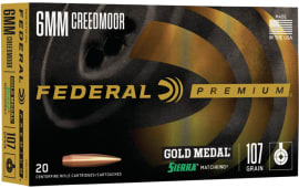 Federal GM6CRDM1 6mm Creedmoor 107 Srmtchking - 20rd Box